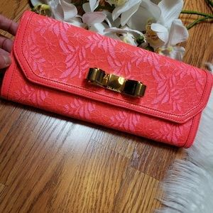 Ted Baker Laicia pink Envelope Clutch